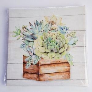 Other - Shabby Chic Farmhouse Succulents Canvas Wall Art